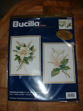 bucilla magnolia s pair kit 2 crewel sted projects included 8 x