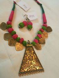 designer handmade jewellery handmade rudraksha coins necklace set and brass handmade fashion