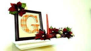 easy diy dollar tree christmas craft plaid monogram traditional