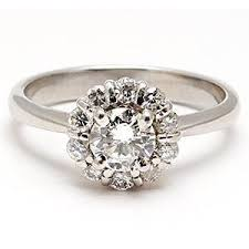 platinum halo engagement rings green engagement ring estate halo motif solid platinum