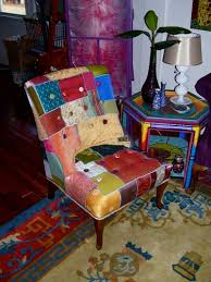 luxe patchwork chair made by julianne