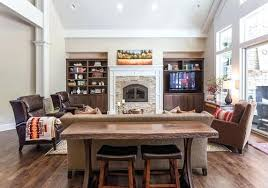 table with stools underneath console table with ottomans underneath console table with ottomans