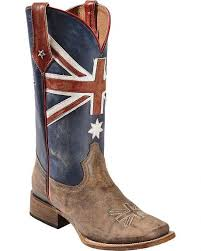 womens cowboy boots in australia roper australian flag cowboy boots square toe eye catchers