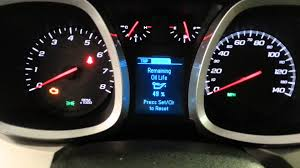 Reset Oil Life On 2015 Chevy Equinox Youtube