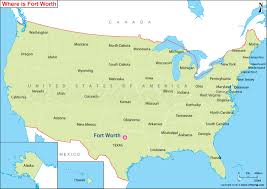 fort worth map where is fort worth tx where is fort worth located in