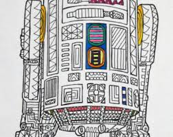 r2d2 coloring pages printable star wars coloring etsy