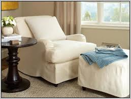 Chair And Ottoman Slipcovers Beautiful First Grade Leather Chair And A Half With Ottoman In