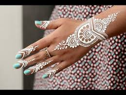 diy how to apply white henna body paint temporary tattoo tutorial