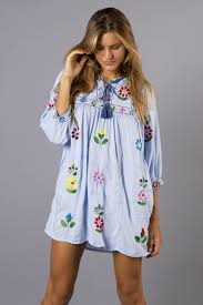 maternity clothes online bermain smock mini dress top folk style embroidery fillyboo