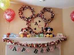 how to make birthday decoration at home disney mickey mouse birthday decorations oo tray design easy