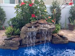 waterfall club backyard garden u0026 pool rock fake waterfalls