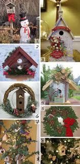 snowy mini birdhouse set birdhouses