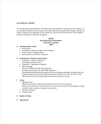 business meeting agenda template u2013 10 free word pdf documents