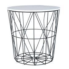 white black geometric side table a striking black geometric wire