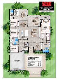 Color Floor Plan South Florida Designs Contemporary 1 Floor 4 Bedroom Home Design