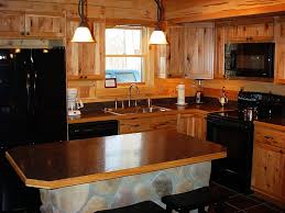 Kitchens With Hickory Cabinets Rustic Hickory Kitchen Cabinets Of Useful Tips For Applying