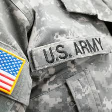 Military Flag Patch Usa Flag And U S Army Patch On Solder U0027s Uniform Stock Photo