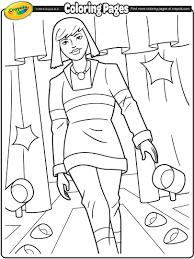 runway model i coloring page crayola com