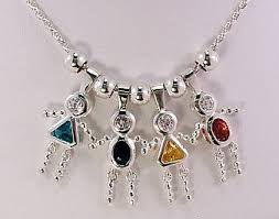 s day necklace with children s names childrens birthstone necklace charming design necklace inspiration