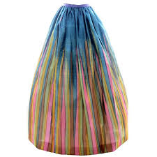 silk skirt vintage silk skirt in watercolor stripe print from