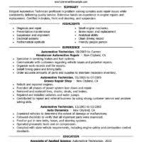 Auto Mechanic Resume Sample by Entry Level Automotive Technician Resume Automotive Technician