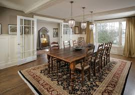 farm table dining room dining room traditional with beige curtain
