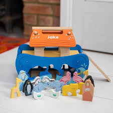 personalised wooden noah u0027s ark shape sorter by harmony at home