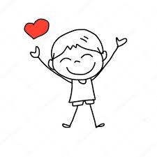imagenes animadas sobre amor chico dibujado a mano dibujos animados en el amor vector de stock