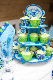 baby boy birthday themes baby boy birthday party table set stock image image of