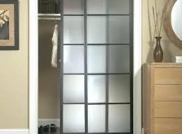 Sliding Closet Door Panels Clear Glass Interior Door Closet Closet Doors Glass Door Black
