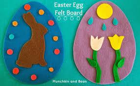 felt easter eggs munchkin and bean easter egg felt board