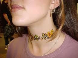 81 sweet neck tattoos for women