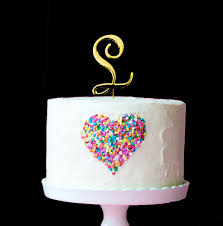 l cake topper gold bake