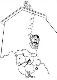 hamm potato head slinky dog toy story 3 coloring pages
