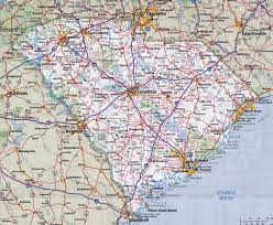 Usa Highway Map Large Detailed Roads And Highways Map Of South Carolina State With