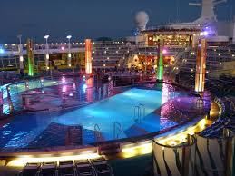 freedom main pool at night jpg ship highlights