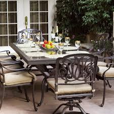 Aluminum Dining Room Chairs Amazon Com Darlee Elisabeth 9 Piece Cast Aluminum Patio Dining