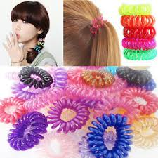 hair bobbles 10 waterproof spiral hair bobbles scrunchies bands elastics