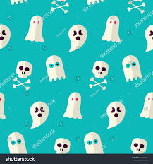 vector flat seamless scary ghost spirit stock vector 320674409