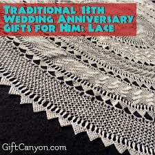 13th anniversary gift 13th year lace wedding anniversary gifts for him gift