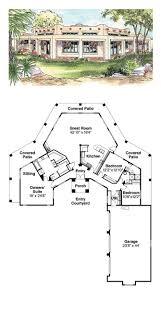 adobe home plans 49 best santa fe house plans images on car garage