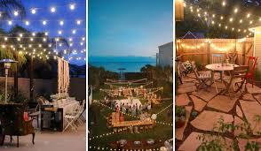 Backyard Wedding Lighting by Market Lights String Lights Wedding Lighting Backyard Wedding