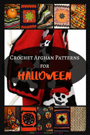 20 best halloween designs for crochet afghans and squares images