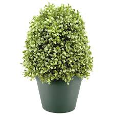 Artificial Boxwood Topiary Trees National Tree Company 15 In Boxwood Artificial Tree In Dark Green