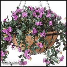 Best Plants For Hanging Baskets by Artificial Hanging Baskets Artificial Plants Unlimited