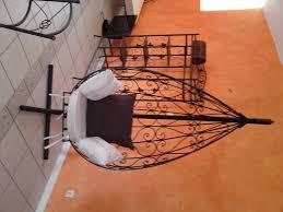 chaises fer forg suspendue en fer forge sur mesure
