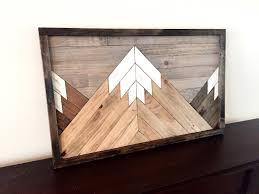 reclaimed wood wall art wood art farmhouse decor mountain
