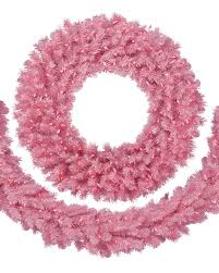 Decorative Garlands Home Pretty In Pink Christmas Wreath U0026 Garland Treetopia
