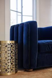 Navy Blue Accent Chair Navy Velvet Armchair Contemporary Living Room