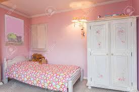 Pink Bedroom Vintage Mansion A Pink Bedroom Of A Little Stock Photo